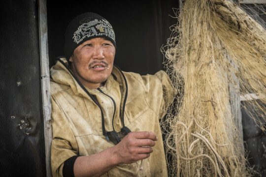 The indigenous communities in Russia live from fishing and hunting.