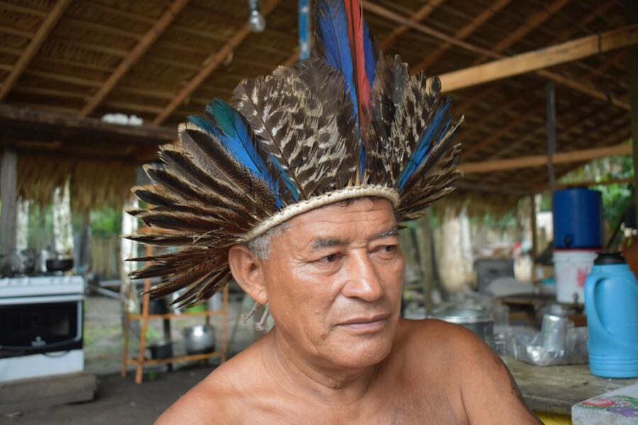 Hands off the Amazon: Chief Cacique Braz in his Amazon home