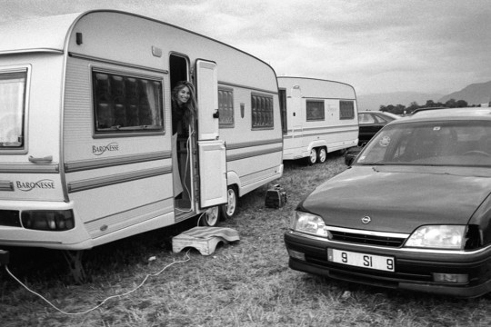 Wohnwagen mit einer Romni