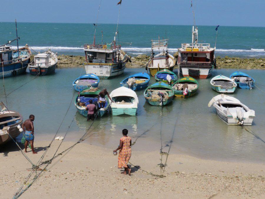 Ein Hafen in Jaffna