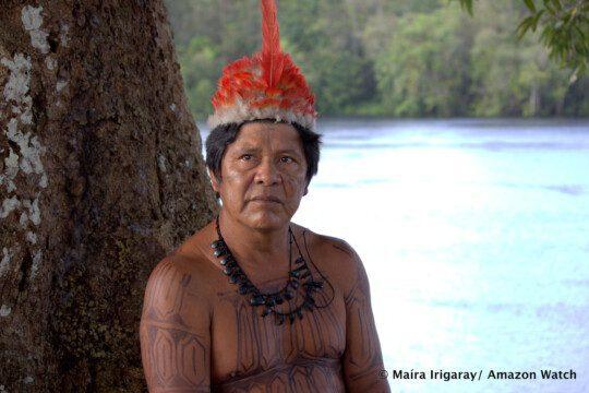 Cacique est le titre officiel des dirigeant-e-s de la communauté. Presque chaque village de Mundurukú en possède un ou une cacique. Photo: Maira Irigaray/Amazon Watch