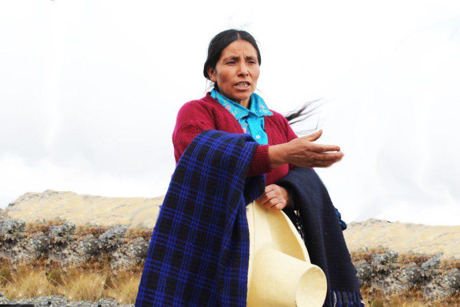 Máxima Acuña de Chaupe, paysanne péruvienne, lutte depuis des années contre le géant minier Yanacocha S.R.L.