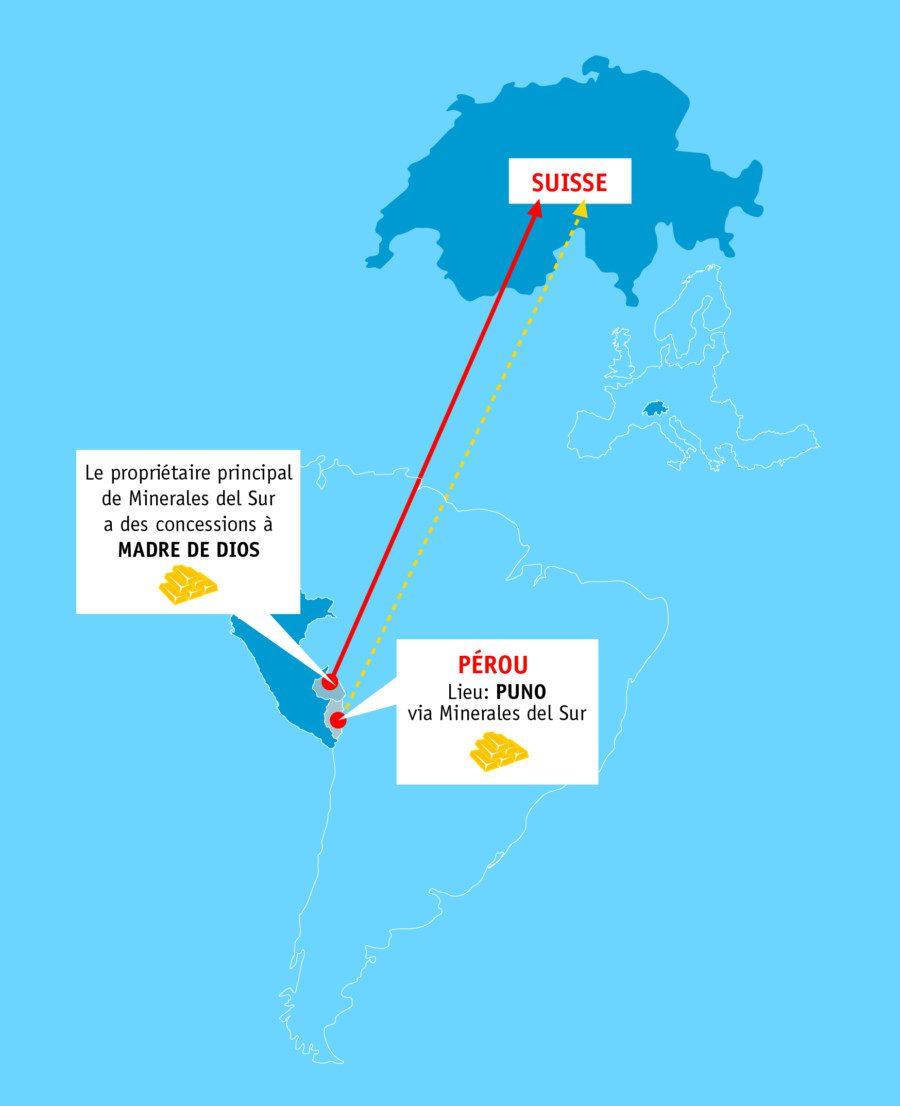 Carte Suisse-Pérou